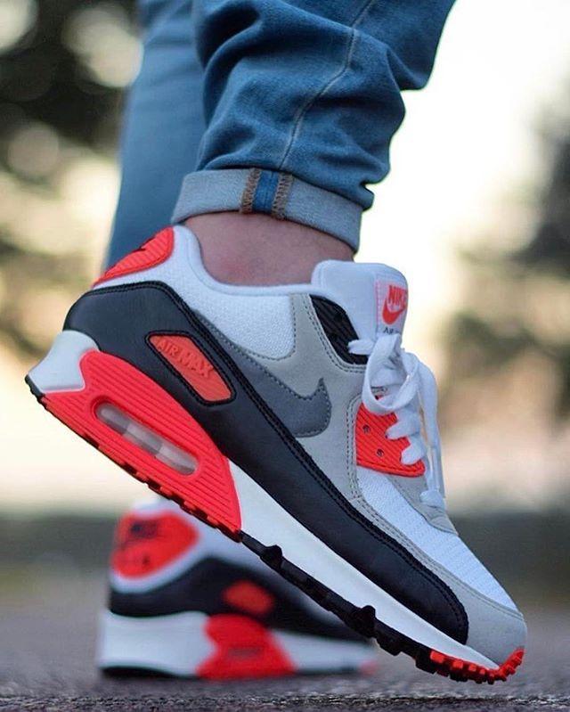 saltar Rebaño Equivalente  Nike Air Max 90 Infrared @walksonheat | Zapatos nike hombre, Adidas tenis  hombre, Zapatillas nike