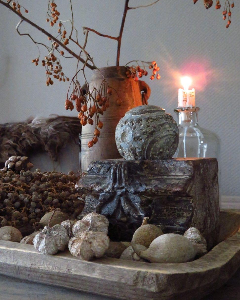 Herfst Decoratie Natuurlijke Materialen Landelijke Stijl Makkelijke Huis Decoratie Decoratie Decoraties