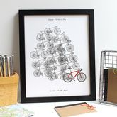 Personalised For The Love Of Cycling Artwork Print