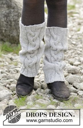 Retro Dance - Knitted leg warmers with cables. Piece is knitted in ...