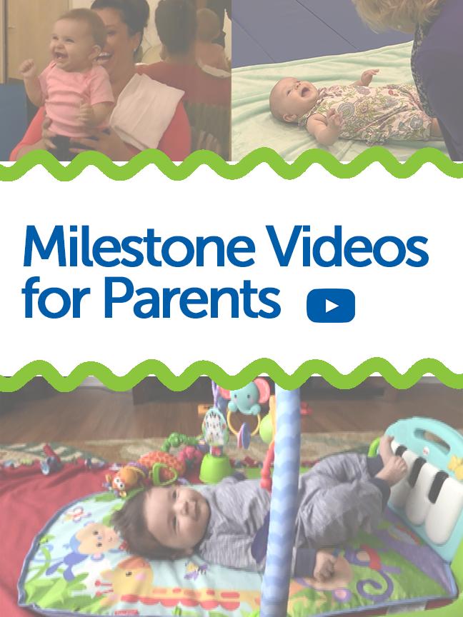 Watch examples of baby's developmental milestones here! Pathways.org has created milestone videos showing what milestones should look like.