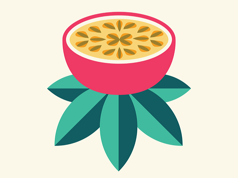 Passion Fruit Passion Fruit Fruit Illustration Fruit Logo