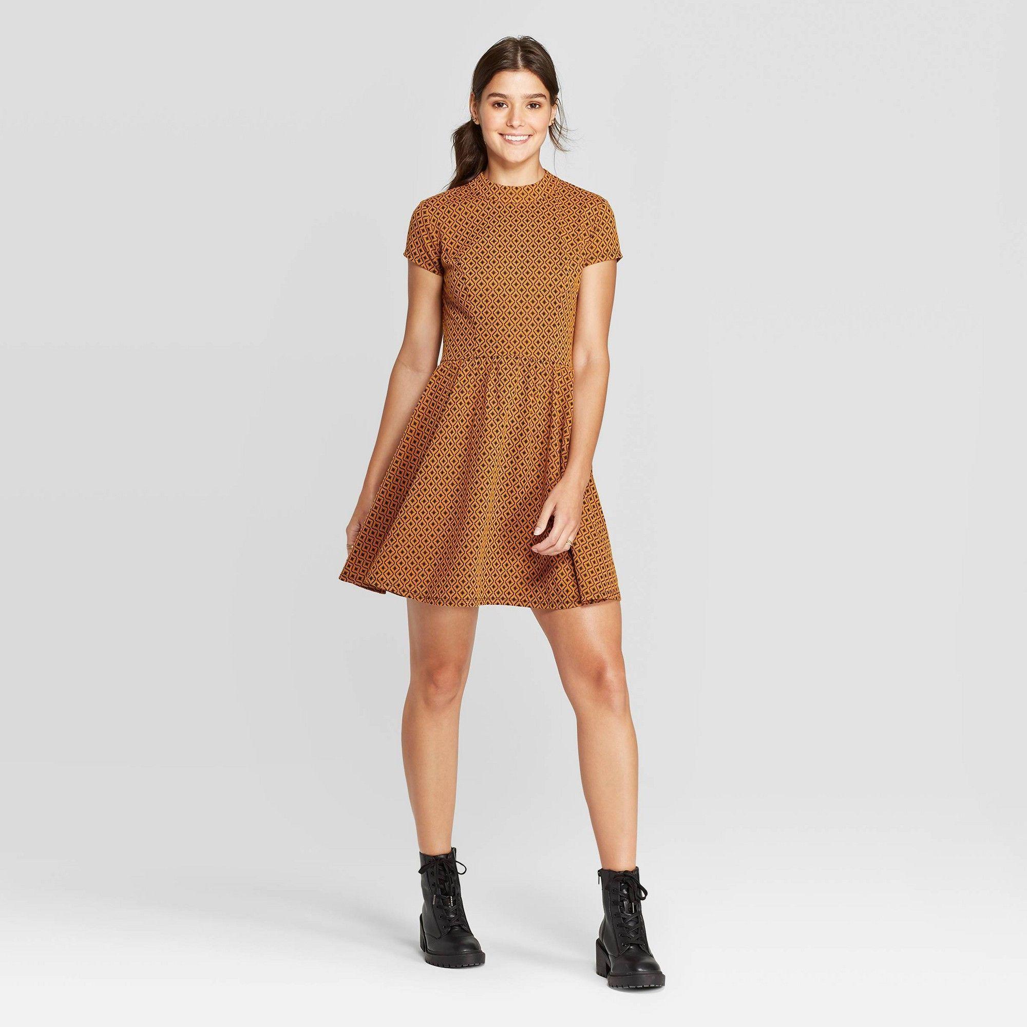 Women S Short Sleeve Mock Turtleneck Knit Mini Dress Xhilaration Mustard Xxl Women S Yell Knit Mini Dress Mini Dress Mini Velvet Dress [ 2000 x 2000 Pixel ]