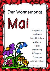 Wonnemonat Mai Jahreszeiten Monate Kinder Gedichte Und
