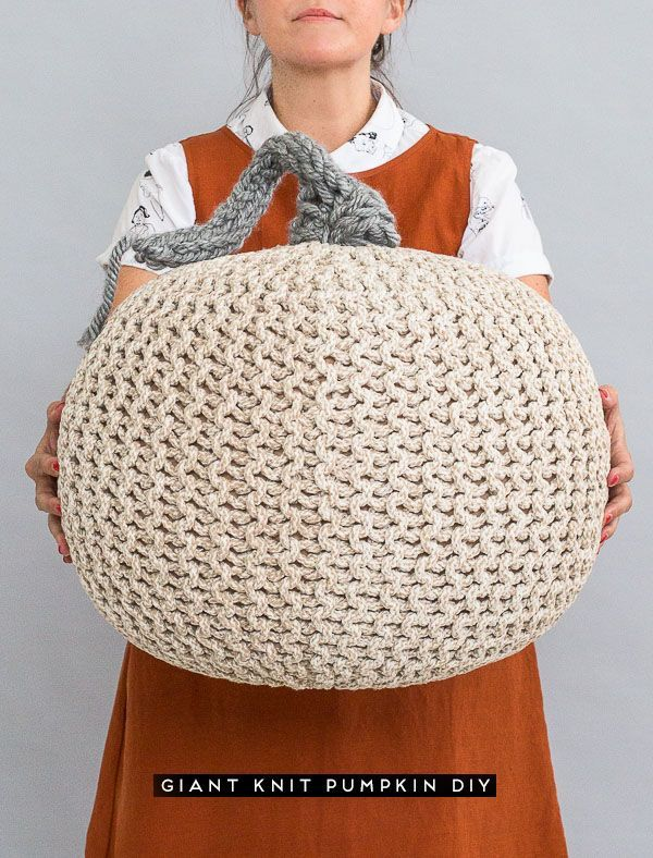 How to Make a Giant Knit Pumpkin for Halloween / Fall - Paper ...