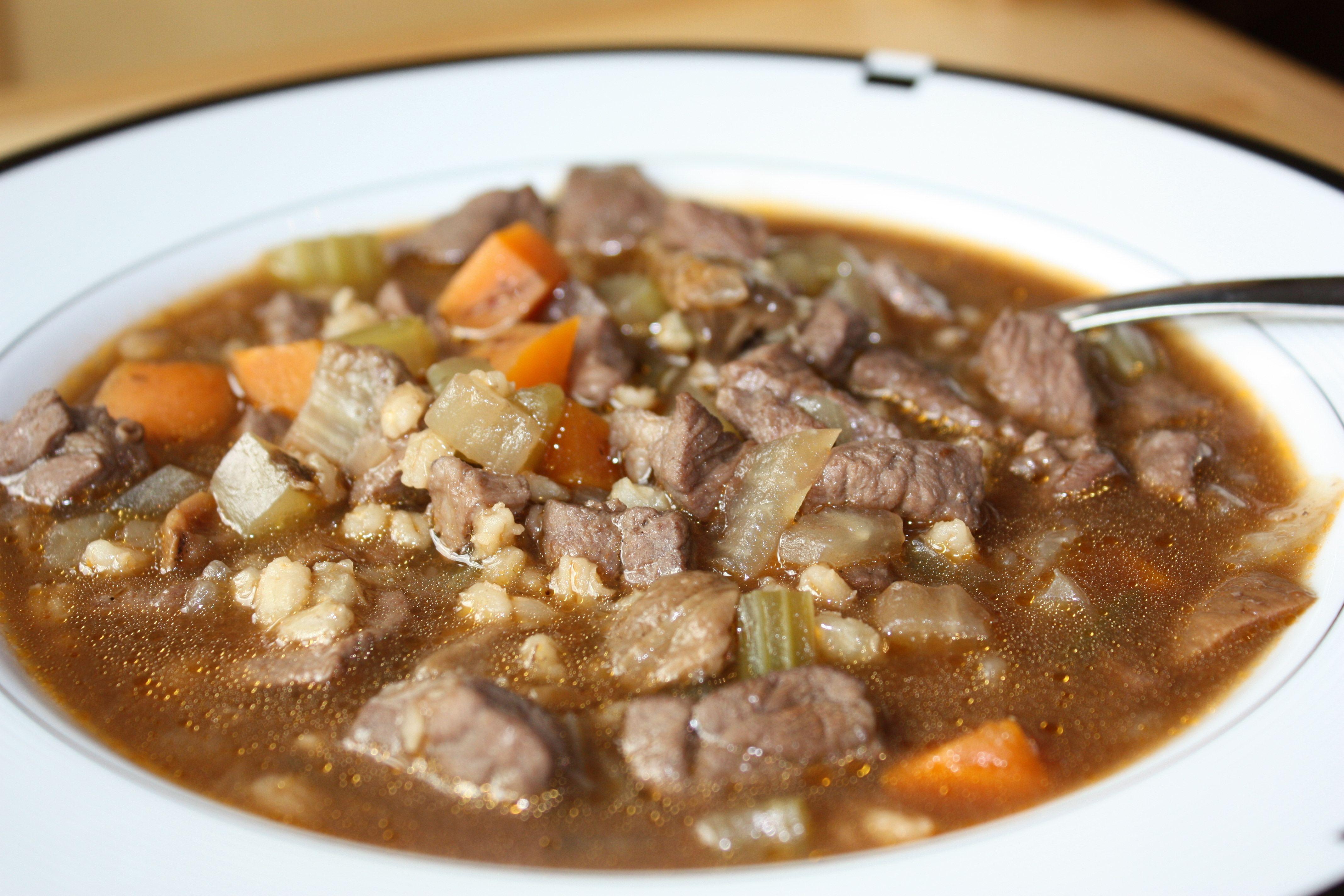 Beefbarley soup recipe beef barley soup barley soup