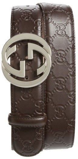 e8dfdd96d3d Gucci Logo Embossed Leather Belt in 2019