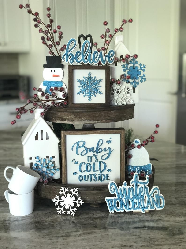 Winter Wonderland Bundle Baby It's cold outside Tiered   Etsy in ...