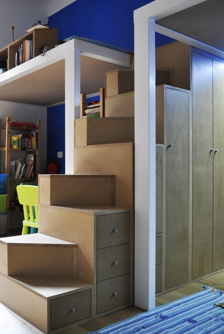 scala mobile per letto a castello, paolo daniotti | soppalchi ...