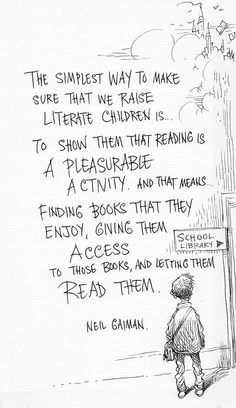 Image result for neil gaiman literacy quote