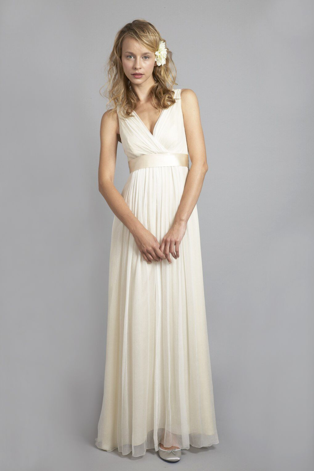 Du6556 vneck elegant silk chiffon shift dress wedding
