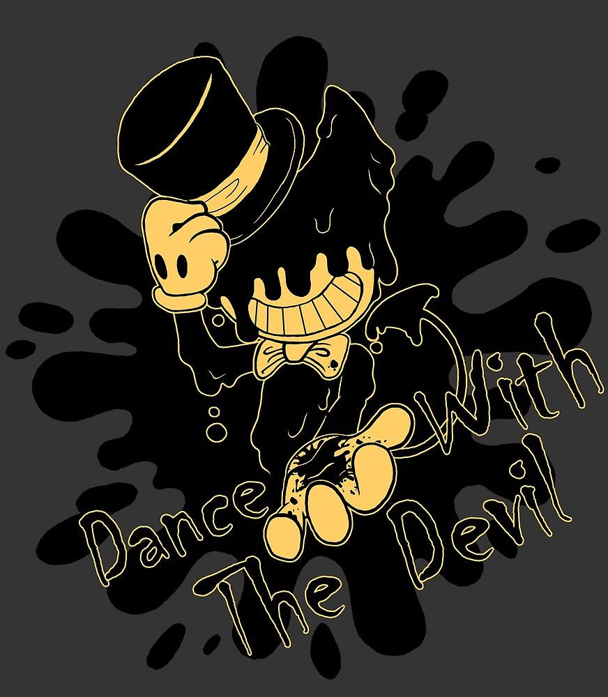 """Bendy and the Ink Machine """"Dance With the Devil"""" Original Fanart from Project6Icarus Available on Redbubble"""