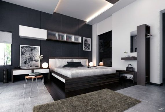 Dormitorio | Decoraciones de dormitorio, Habitaciones elegantes modernos,  Dormitorios