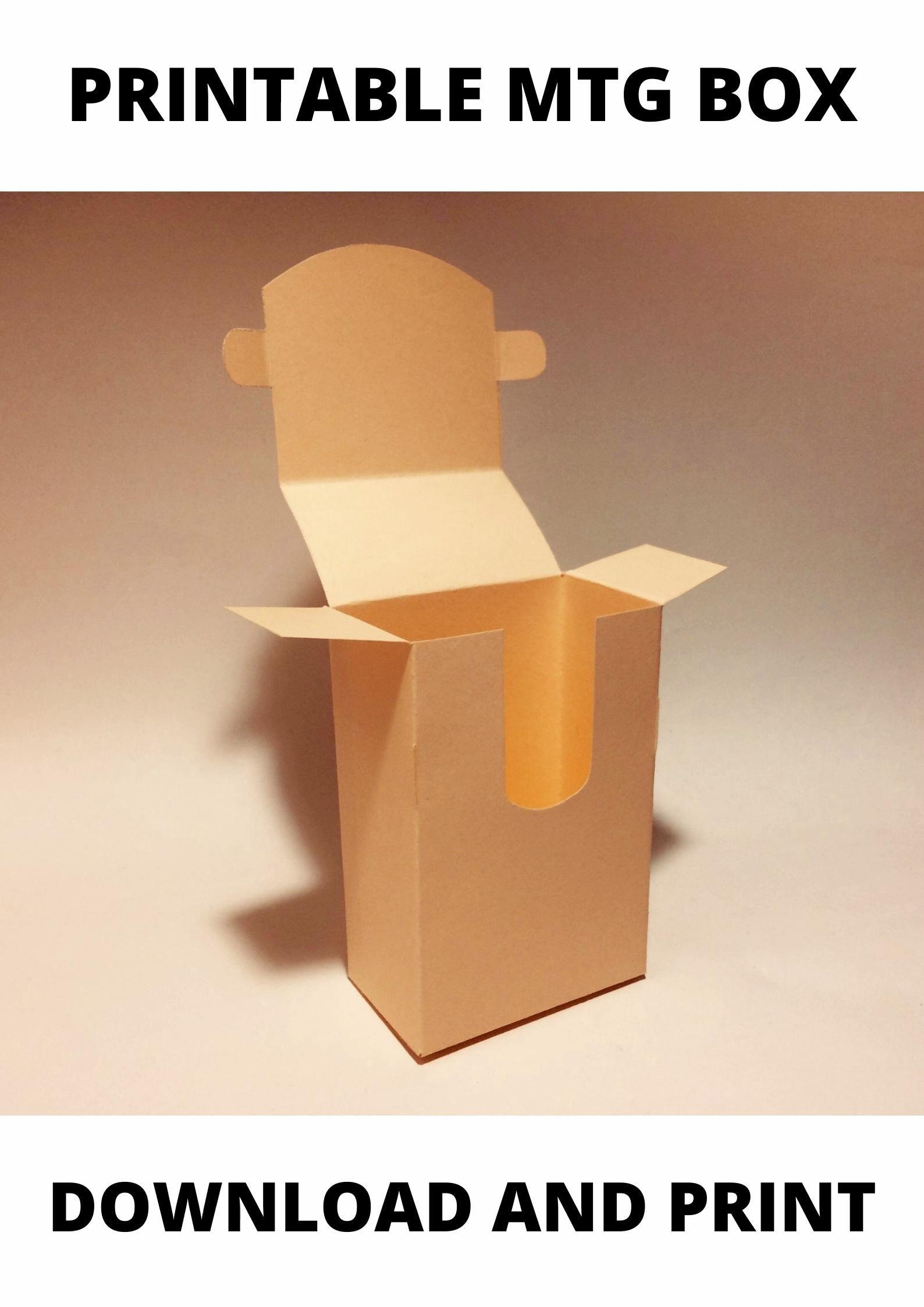 Mtg Deck Box Mtg Box Magic The Gathering Deck Box Mtg Card Box Mtg Card Storage Box 8 5x11 A4 A3 Svg Pdf Cricut Silhouette Video Video Diy Playing Cards Card Holder Diy Card Storage