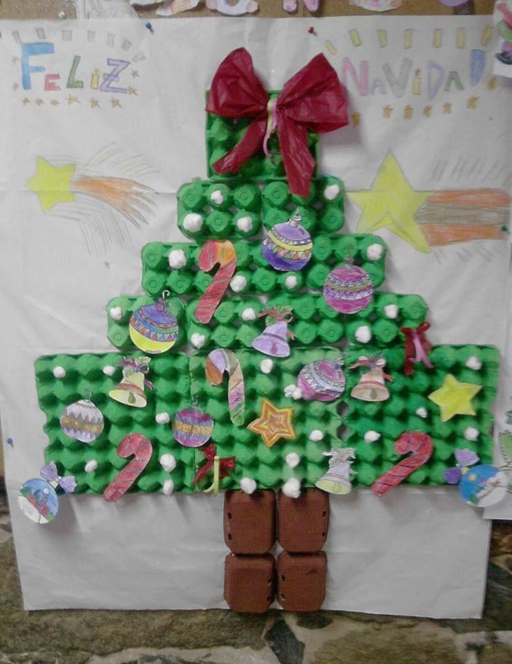 Manualidades Para Ninos De 3 Anos De Navidad.Como Hacer Un Arbol De Navidad Con Hueveras Diy Decoracion