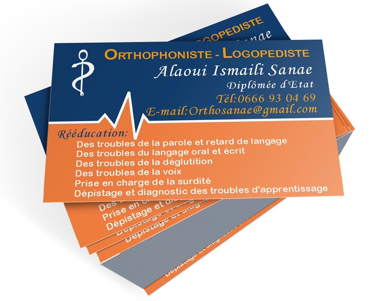 Resultat De Recherche Dimages Pour Carte Visite Orthophonie