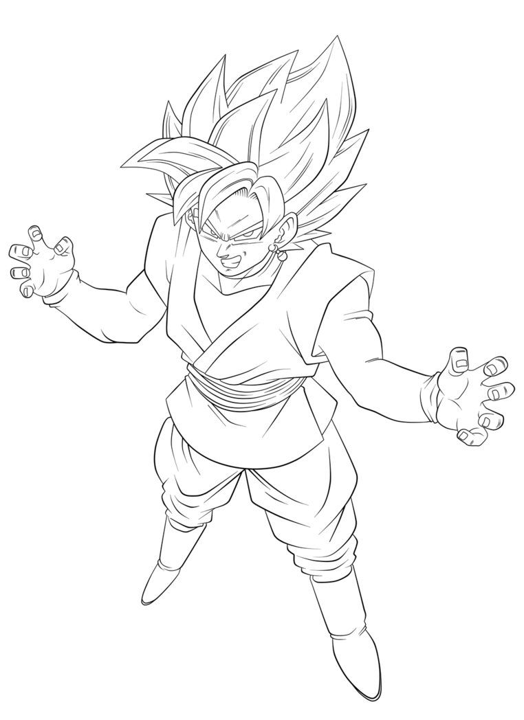 Black Goku Gm10 Lineart By Nekoar Deviantart Com On Deviantart