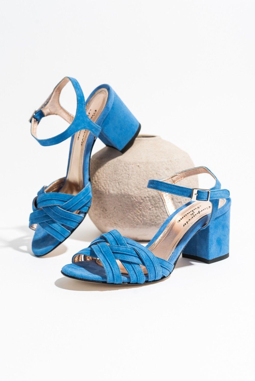 c11875c34d62 Classic Sandal 389 Blue Suede - SANDALER - DAM - CC-Skor Online Shop ...