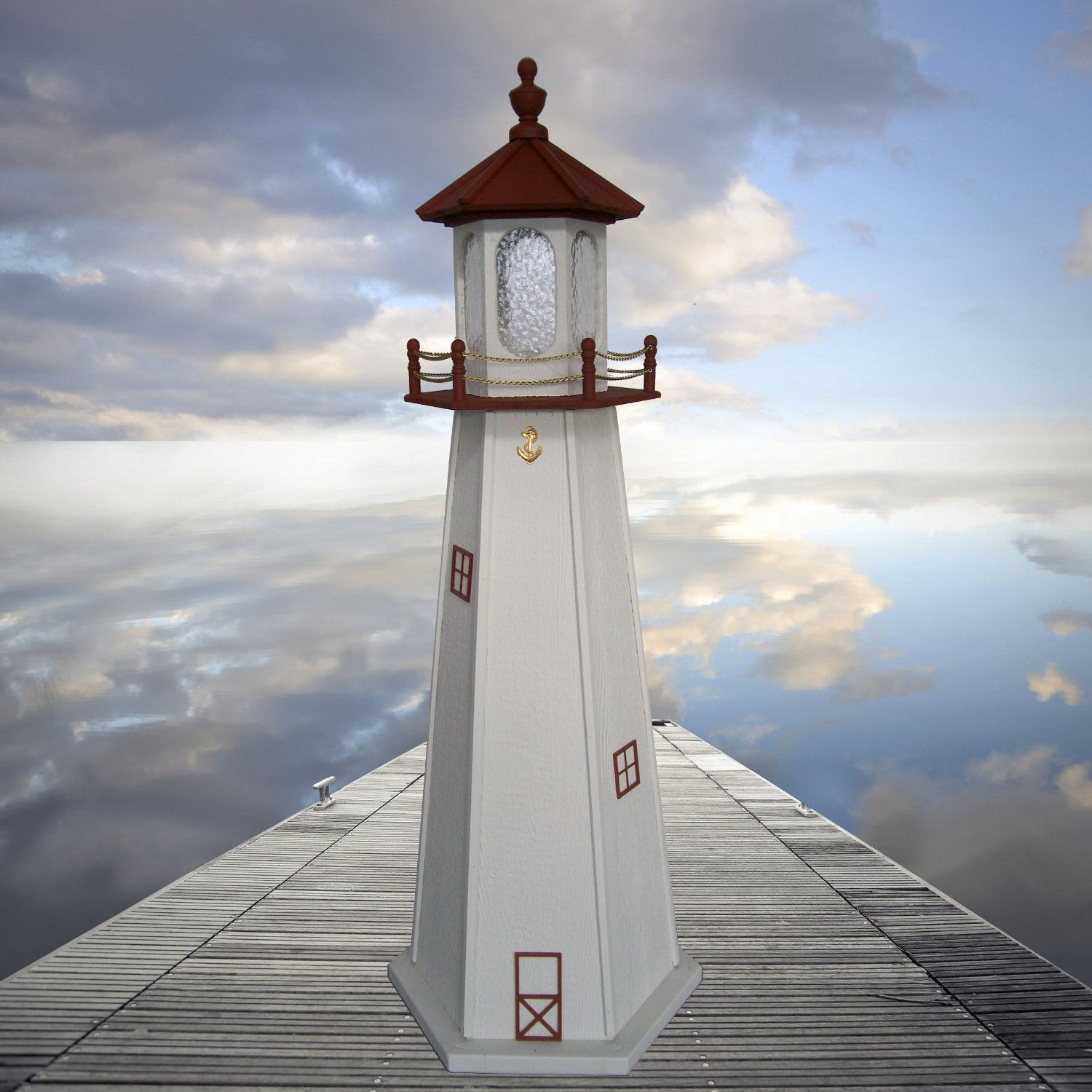Garden Lighthouse Marblehead Style Amish Handcrafted