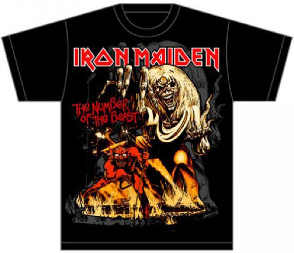Iron Maiden Album T Shirt The Number Of The Beast Album Cover