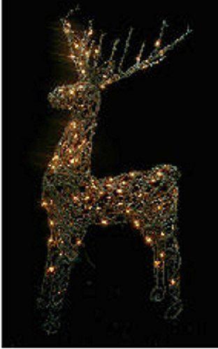 48 animated standing buck reindeer lighted christmas yar