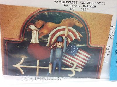 Ronnie-Bringle-WEATHERVANES-WHIRLIGIGS-Tole-Decorative-Painting-Pattern-New
