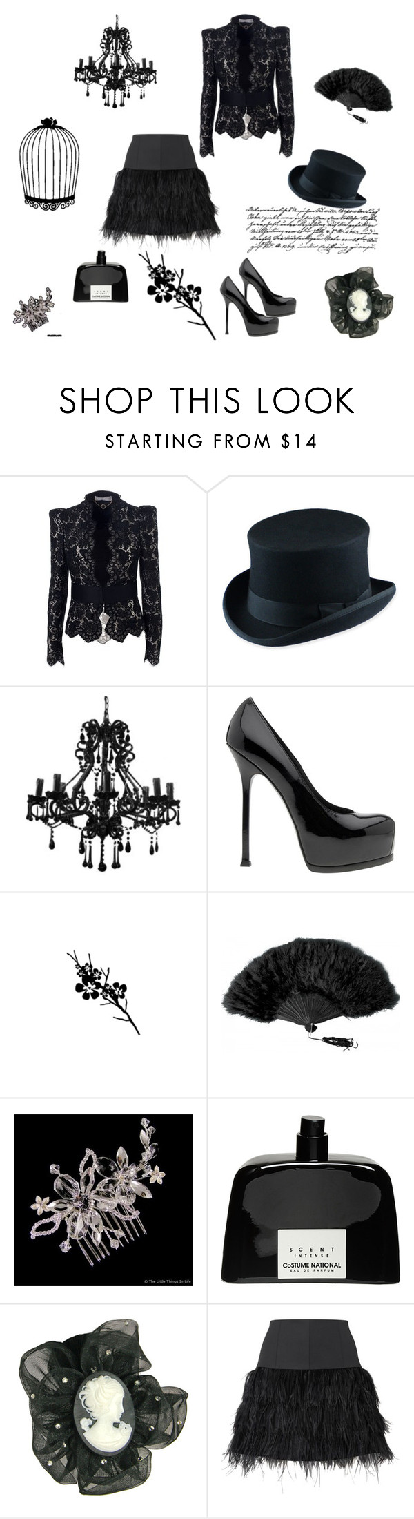 """""""Untitled"""" by bittermoon ❤ liked on Polyvore featuring STELLA McCARTNEY, JOHN BULL, Chandelier, Yves Saint Laurent, COSTUME NATIONAL, Tarina Tarantino, Oasis and Tim Holtz"""