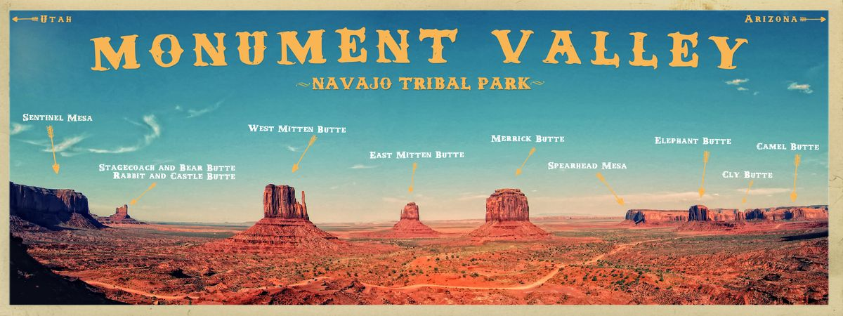 Monument Valley map by James Orndorf