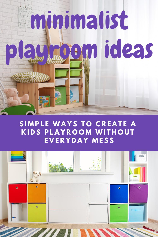 Minimalist Playroom In 2021 Playroom Organization Small Playroom Playroom