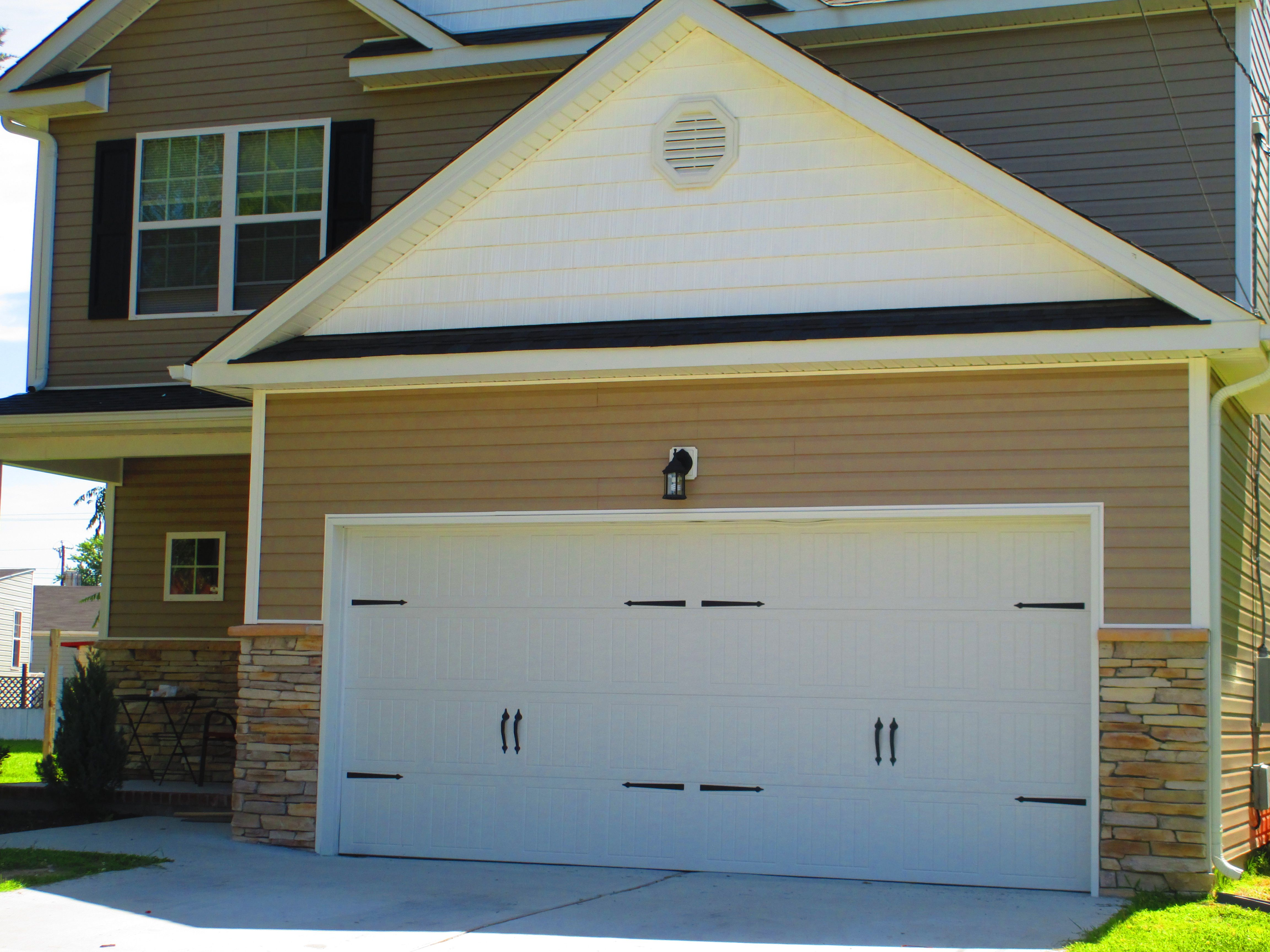 Carriage House Style Garage Door With No Windows Garage Doors Garage Door Design Metal Garage Doors