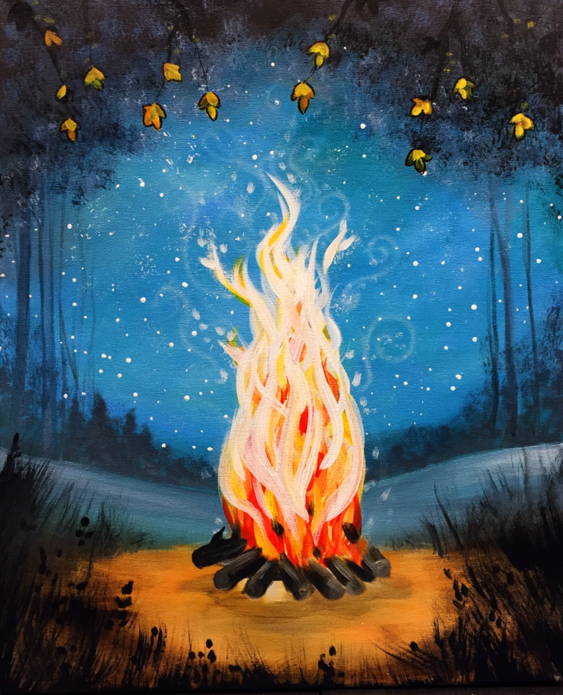 Graffiti Paintbar - Uncork Your Inner Artist! | Night painting, Fire  painting, Painting gallery