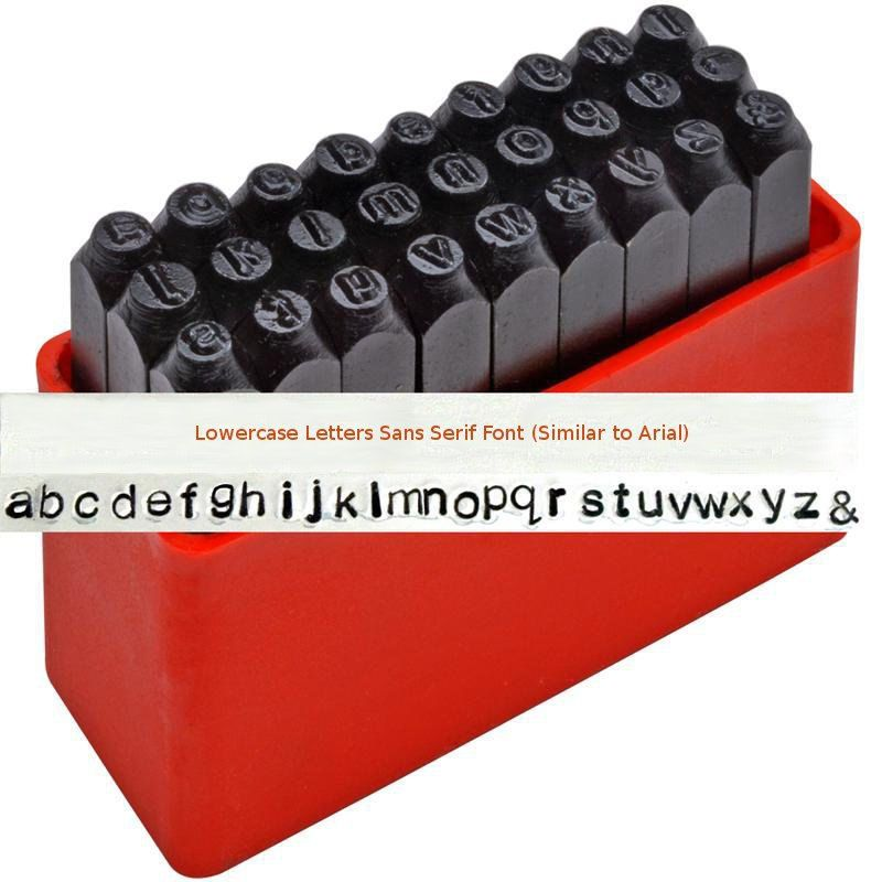 3mm GOTHIC Letter Stamp Set Punch 27 Piece Steel Metal Alphabet Letters