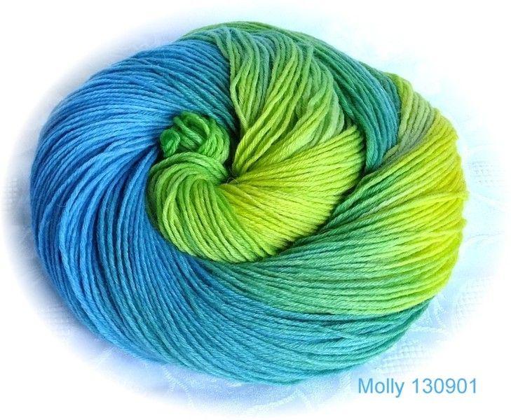 Handgesponnen & -gefärbt - Molly 130901 - ein Designerstück von pandora66 bei DaWanda