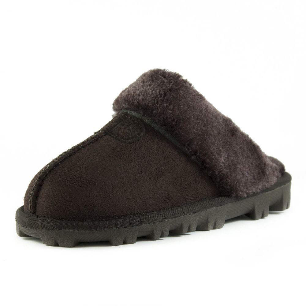 2a523be3344f CLPP LI Womens Slip On Faux Fur Warm Winter Mules Fluffy Suede Comfy  Slippers