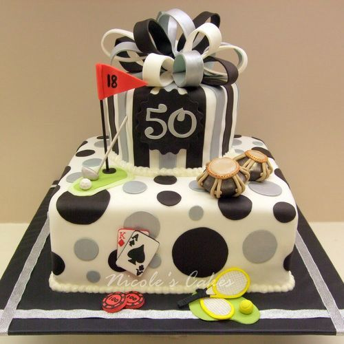 Elegant 50th birthday cake ideas adult birthday cakes for Adult birthday cake decoration