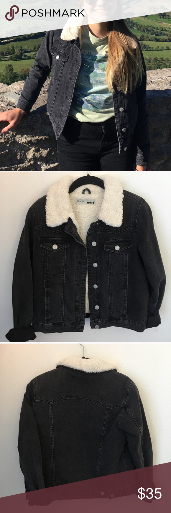 Sherpa Washed Black Denim Jacket Black Denim Jacket Denim Jacket Black Denim [ 1740 x 580 Pixel ]