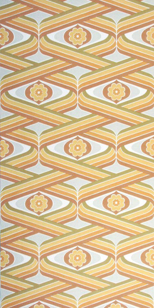 70er Jahre Tapete Vintage Tapete Tapeten Textildruck