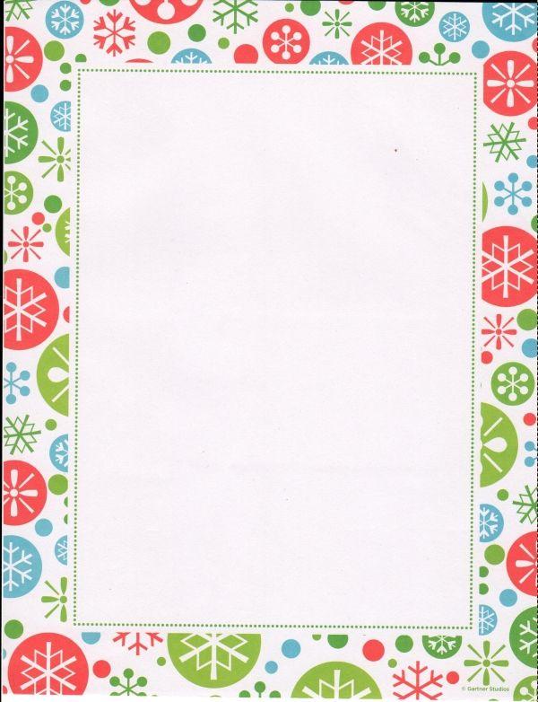 whimsy multi snowflake christmas letterhead 100 count christmas