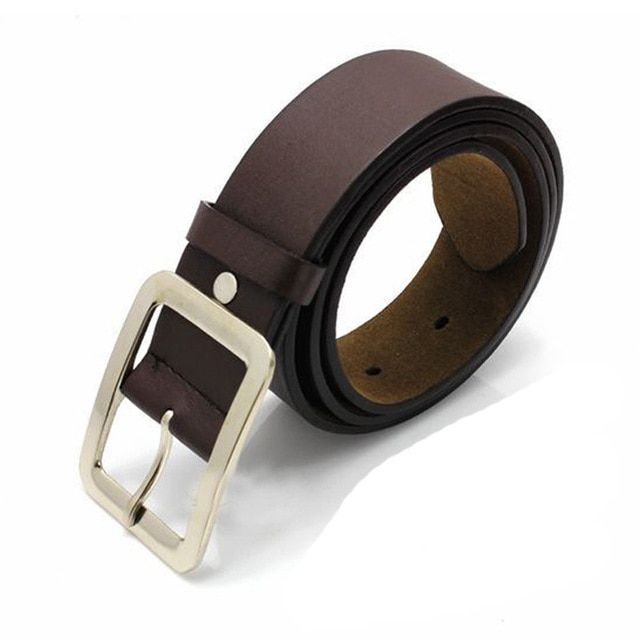 Adult mens casual faux leather belt buckle male business waist strap belts accessories