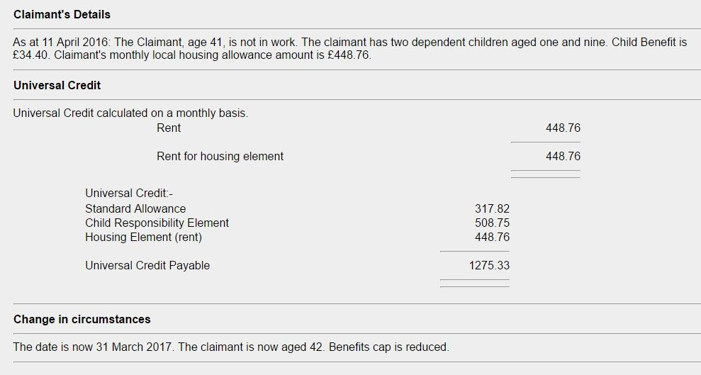 This Is An Example Of Universal Credit Payment From The Dwp
