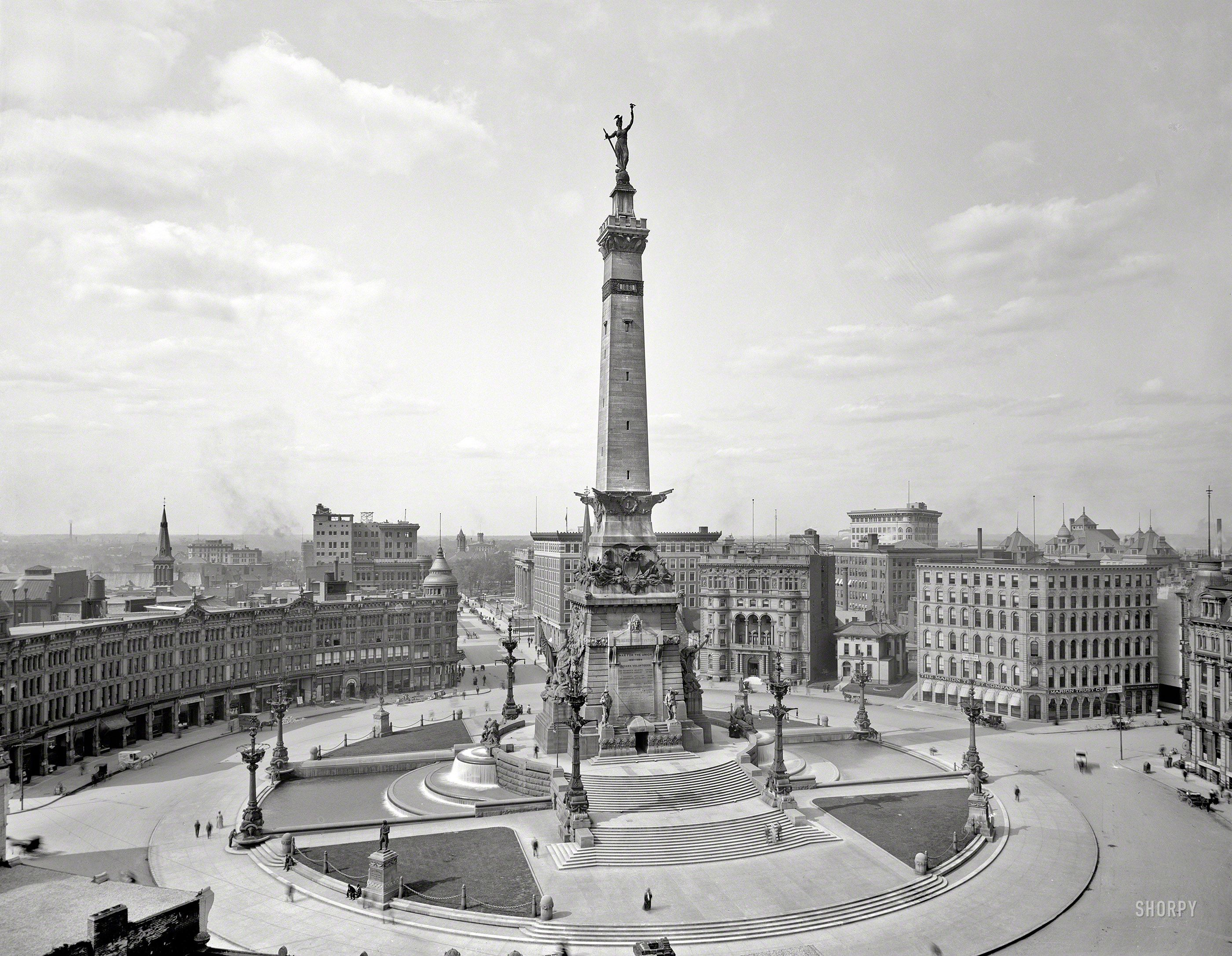 Indianapolis, IN, Monument Circle: 1907   1900-1919   Pinterest ...