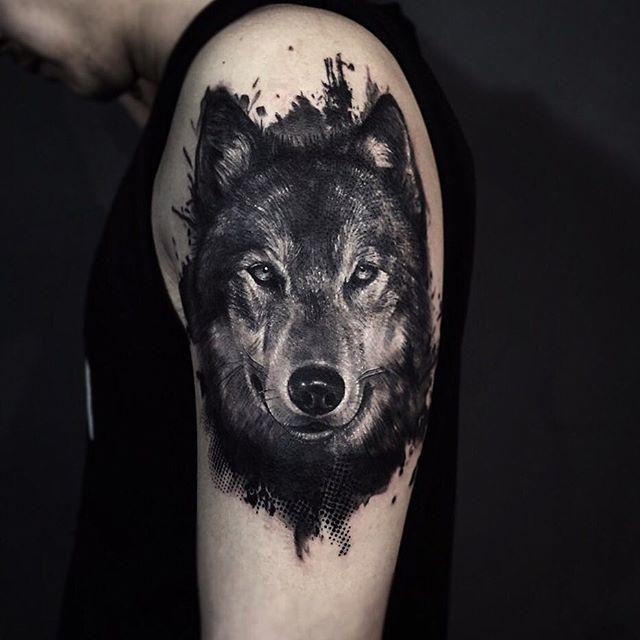 resultado de imagem para desenho lobo silhueta tatuagem