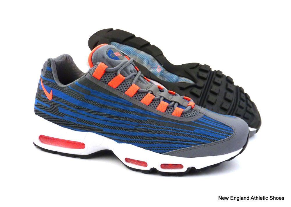 Nike men Air Max 95 Jacquard running shoes size 13 - Cool Grey / Bright Mango #Nike #RunningCrossTraining