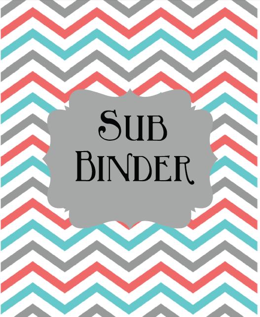 Tales Of Teaching In Heels: Editable Sub Binder-FREE