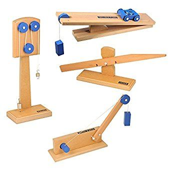 Amazon.com: ETA hand2mind Simple Wooden Machine Collection 2: Inclined Plane/Cart, Pulley, Lever, Wheel & Axle Models: Industrial & Scientific