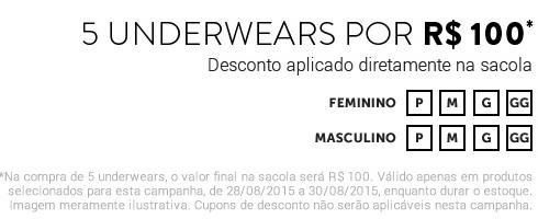 5 Peças Íntimas - Masculinas ou Femininas << R$ 10000 >>