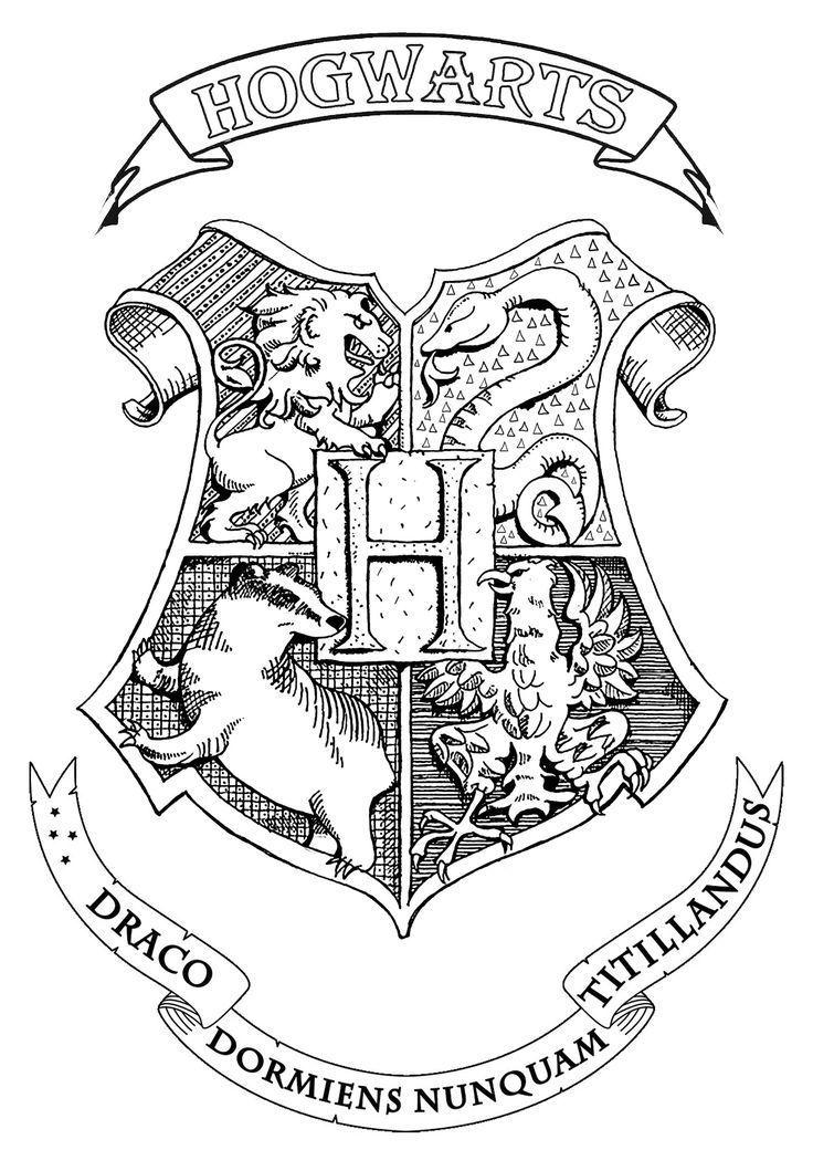Symbol Emblem Seal Sign Logo Or Flag Of Hogwar Hogwarts Harry Potter Tattoos Harry Potter Journal