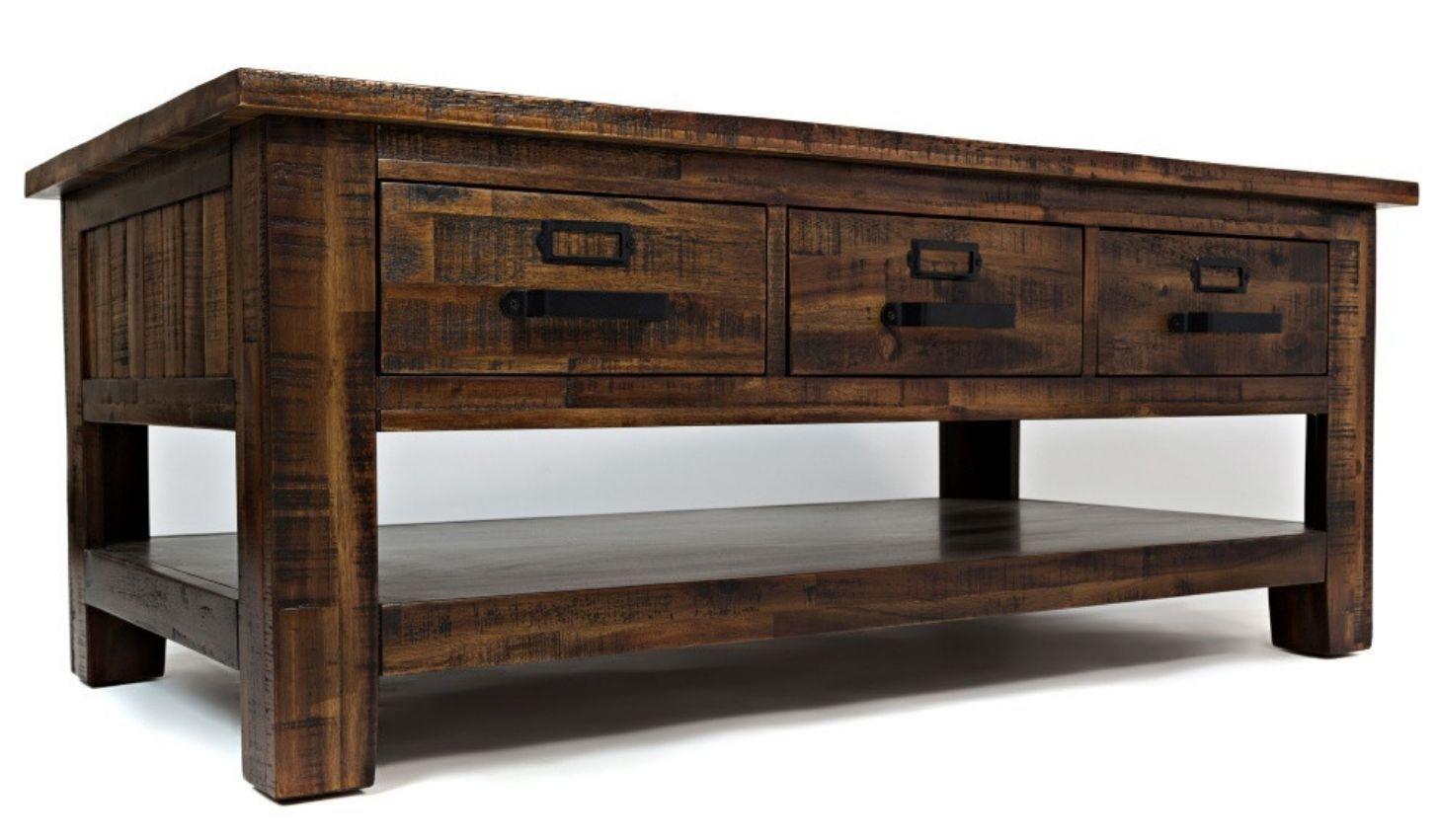 Park Art|My WordPress Blog_Acacia Wood Coffee Table With Drawers