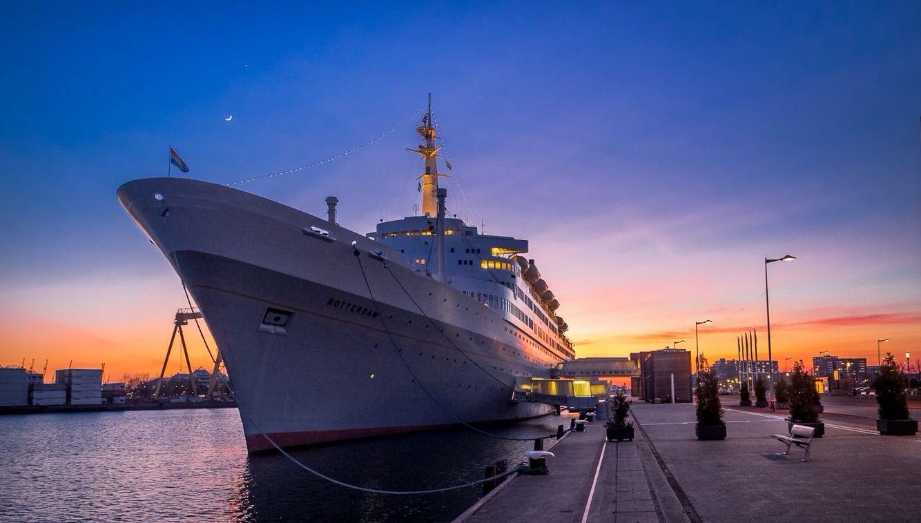 SS Rotterdam #rotterdam #boat #boot #zonsondergang #sundown