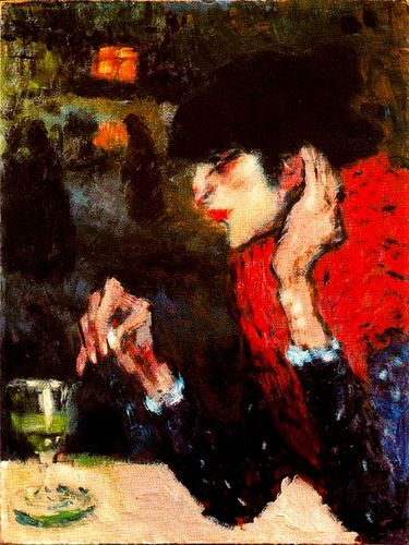 Picasso, Pablo (1881-1973) - 1901 The Absinthe Drinker .